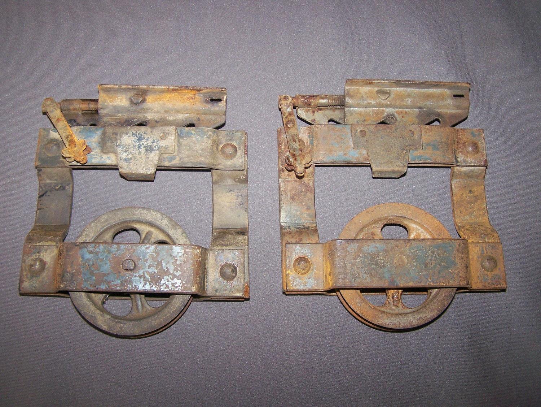 Reserved for clayton antique barn door rollers vintage for Barn door rollers