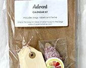 Advent Calendar Kit - Kraft Bags & Baker's Twine - Christmas/Holiday