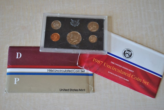RESERVED FOR ED Lot of 3 Vintage United States Mint Uncirculated Coin Sets