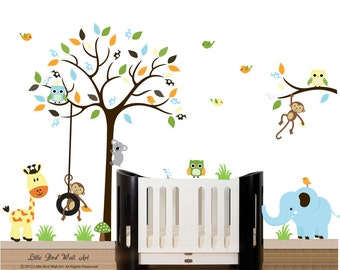 Wall decal tree kids wall decal with tree branch wall decal sticker