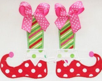 Christmas Elf Shoes Embroidery Design Machine Applique