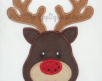Christmas Reindeer Embroidery Design Machine Applique