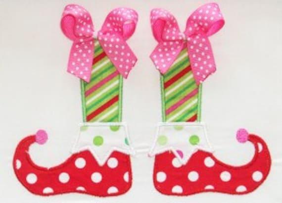 Christmas Elf Shoes Embroidery Design Machine Applique