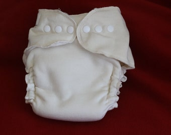 Lg/XL Bamboo/Organic Cotton Fitted Diaper