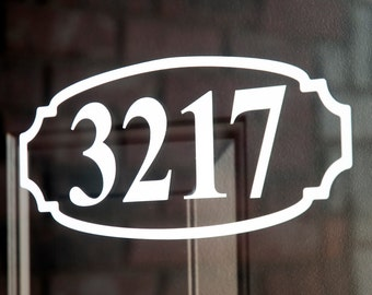 Address with Border 10 (Small) - Vinyl Decal