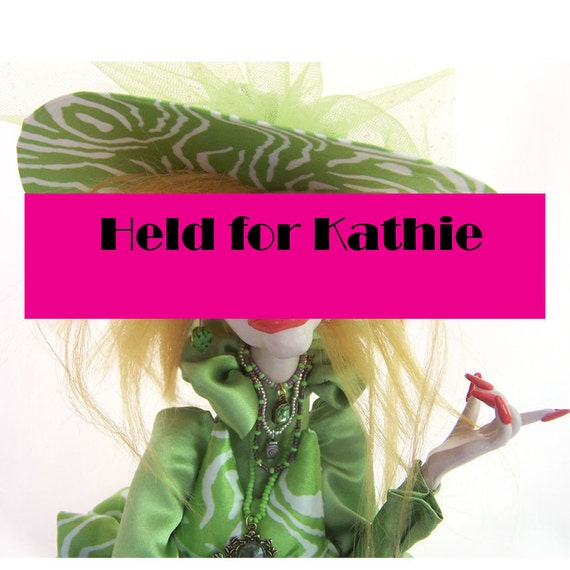 Green Diva Art Doll Big Hat High Lace Boots