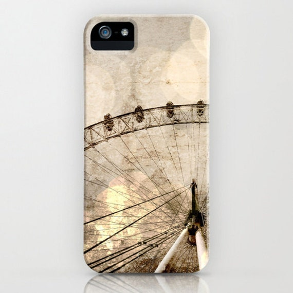 NEW for iPhone 5 - London Eye in London, England iPhone Hard Case, UK Ferris Wheel Photography on an Apple iPhone Case