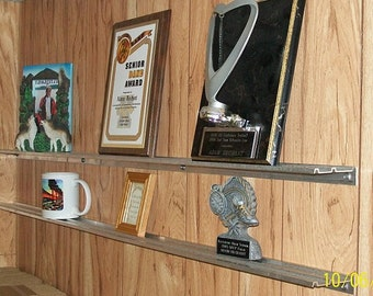 DISPLAY SHELVES for Trophies, Plaques, Pictures, Awards, Mugs & Collectibles -- Set of 2