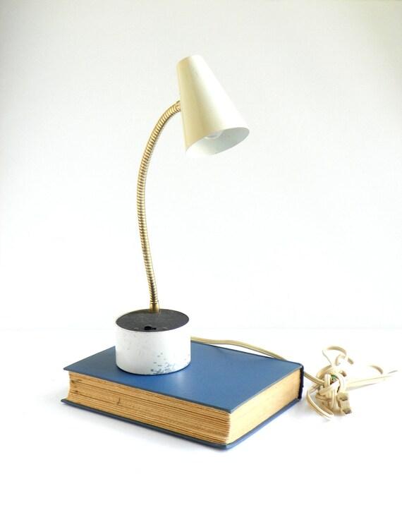 Mid Century  Diax White Desk  Lamp