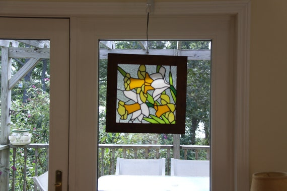 "Stained Glass Panel ""Daffodil Days"""