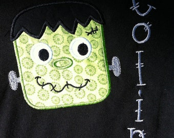 Boy Halloween Shirt - Infant or Toddler - Personalized - Frankenstein - Frankenstein Shirt