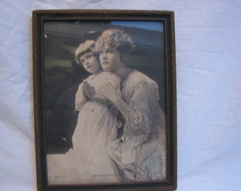 """Antique 1910 Photo """"Take Good Care Of Daddy"""" by  R.C. Co. N.Y. Ww1 Wife of Soldier"""