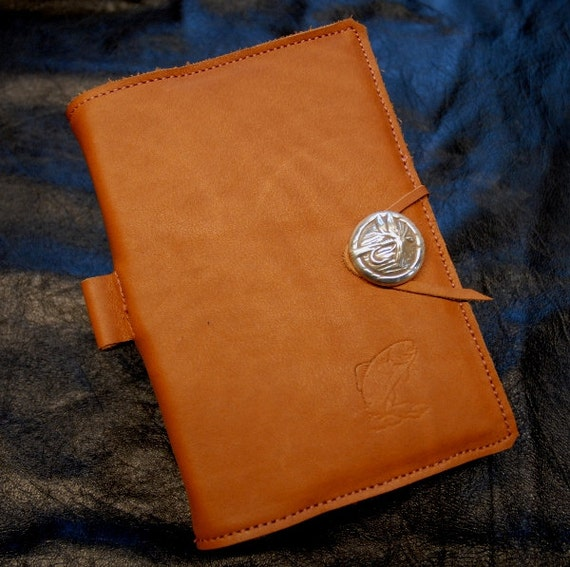 Leather bound fly fishing journal by dustymustang on etsy for Fly fishing journal