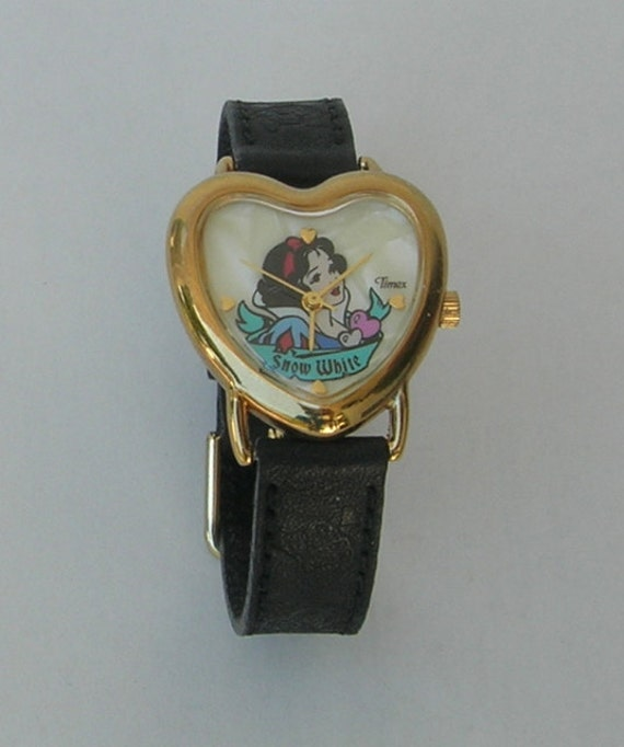 Vintage Snow White Heart Shaped Timex Watch Disney