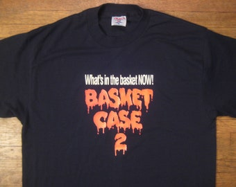 Original vintage RARE Basket Case 2 horror movie t-shirt, L-XL
