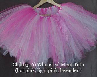Whimsical Merit Tutu- hot pink, light pink, lavender