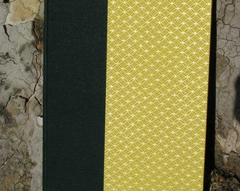 Handmade, One-of-a-Kind Green, Yellow, and Gold Journal/Sketchbook - M009