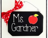 Personalized Teacher Name Sign- Lined Writing