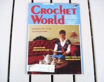 Vintage CROCHET WORLD February1984.