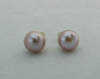 Rose Pink Freshwater Pearl Earrings