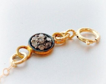 Diamond Bracelet Pave Diamond Jewelry 14K  Gold Filled Chain Jewellery Dainty Simple Delicate High Fashion April Birthstone B-306 307 308