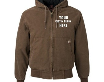 Custom Embroidered Canvas Jacket--More Colors