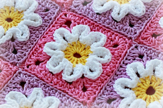 Crochet Flower Baby Blanket Patterns