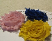 Reserved Listing for Heartsvogue - 3 shabby rose clips