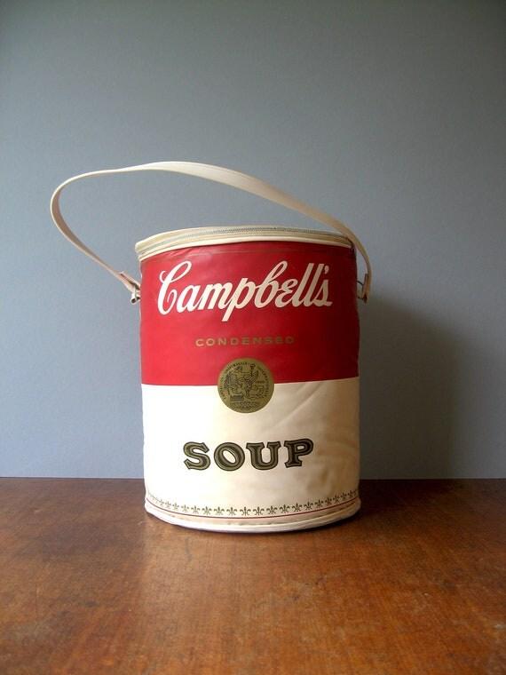 Vintage 60 S Campbell S Soup Can Bag Pop Art