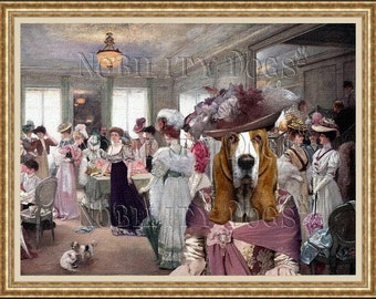 Basset Hound Art CANVAS Print Fine Artwork  Dog Portrait Dog Painting Dog Art Dog Print  Perfect Dog Lover Gift for Her Gift for Him