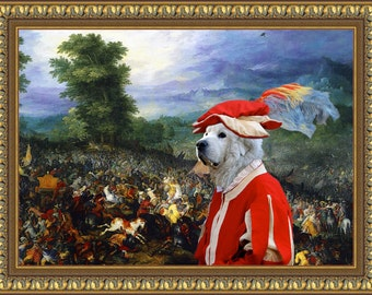 Great Pyrenees Art CANVAS Print Fine Artwork of Nobility Dogs Dog Portrait Dog Painting Dog Art Dog Print by Nobility Dogs