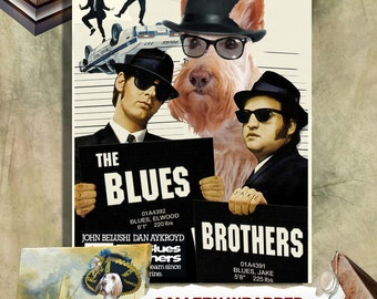 Scottish Terrier Vintage Canvas Print - The Blues Brothers Movie Poster by Nobility Dogs