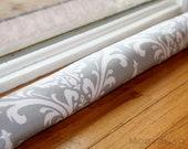 Breeze Blocker- Cold Air Draft Stopper- Grey Ozborne Damask Home Decor- Window Draught Excluder- Door Snake- Draft Dodger- Fireplace
