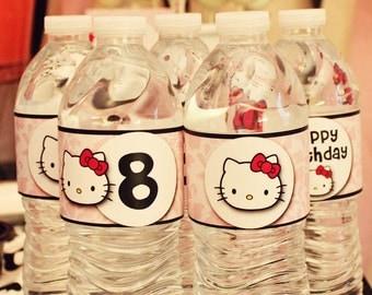 60 Waterproof WATER WRAPS - Printed & Mailed - You choose theme - Printable Drink Labels - 4 dozen - Birthday, Shower, Wedding, etc