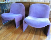 Pair Of 1960's Gianfranco Piretti Alky Chairs By Castelli