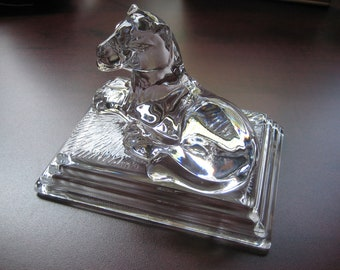 Figure Of Lion In Clear Glass