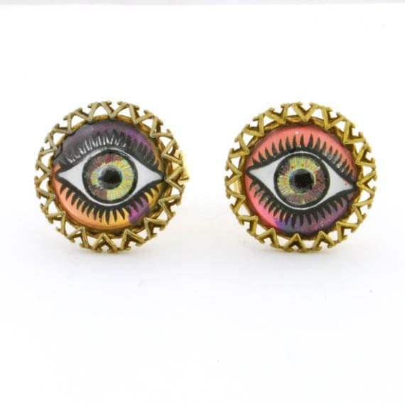 Beatlejuice Monster Eyeball Vintage Cuffinks