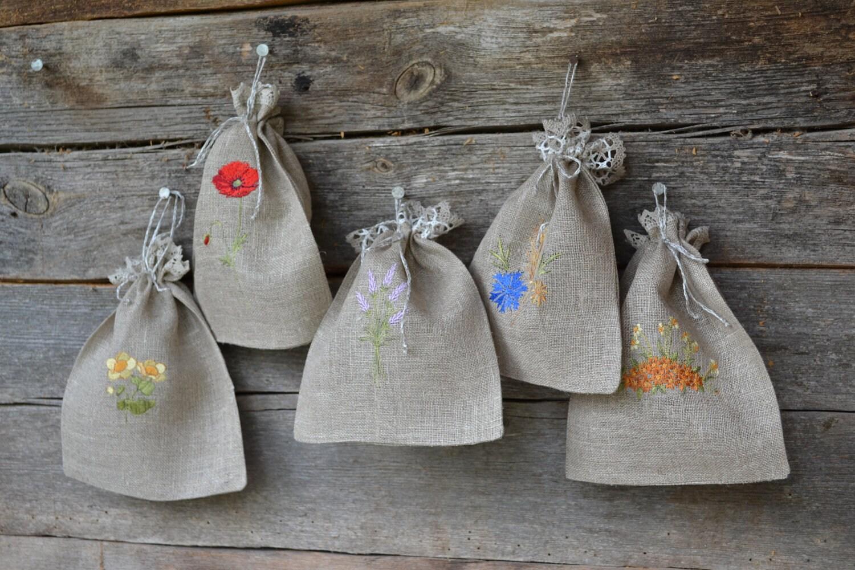 Вышивка на мешочки для крупы