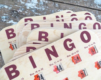 Vintage Bingo Cards made in the U.S.A. Game CArds Vintage Games