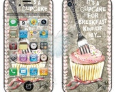 Funny Cupcke iPhone 4/4s or 5 Case Pink & Gray