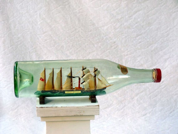 Ship in a bottle, Great Britain, by Stockton on Forest of York
