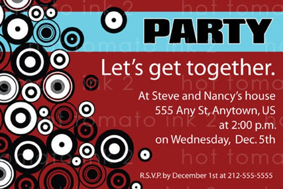 Items similar to Get together party Invitation Just for fun on Etsy – Get Together Party Invitation