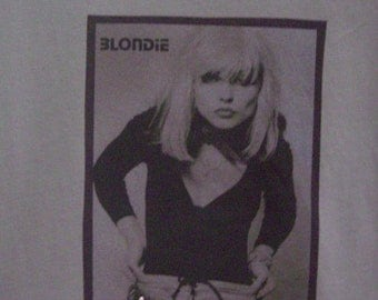 Clothing, Women's T-Shirts, Tops and Tees, Blondie T-Shirt, Debbie Harry Shirt, Shirts for Women, Fashion Shirt, Handmade Rock Shirt