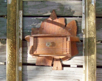 Folk Art Oak Leaf Shelf