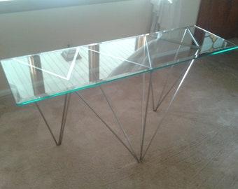 Metal Sculpture / Modern Hairpin Coffee Table / Geometric Stainless Steel Designs