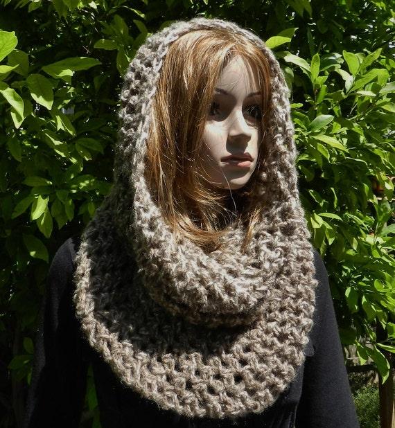 Hand Crochet Modern Cowl - Neckwarmer - Head Tube - Scarf Soft Chunky Texture