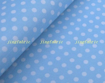 W223D - Vinyl Waterproof Fabric - polka dot - blue   - 2 meters