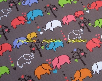 "W095E  - Vinyl Waterproof Fabric - Elephant  - Grey  - 27""x19""(70cmX50cm)"