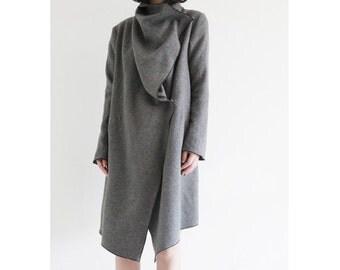 RENZ gray wool coat (FM185)