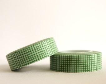 Green Grid Washi Tape